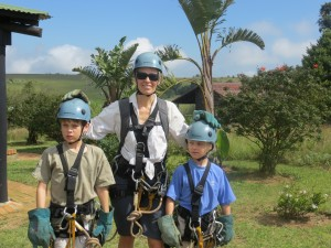 Suited up for the canopy tour