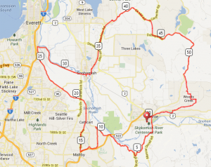Map of week 13's ride